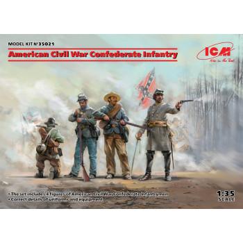 Фигуры, Пехота Конфедерации (Гражданская война в США) сборная модель