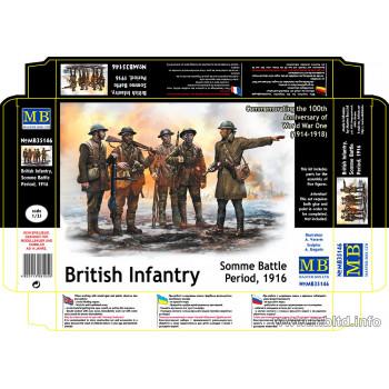 Фигуры Британская пехота, период Битвы на Сомме, 1916