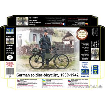 Фигуры Немецкий солдат-велосипедист, 1939-1942