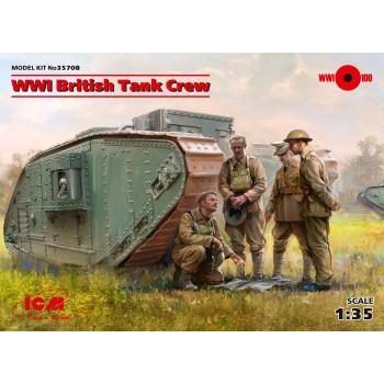 Фигуры, Британский танковый экипаж І МВ сборная модель