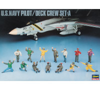 H36006 Hasegawa Фигуры пилотов ВМС США U.S. Navy pilot/Deck crew set A (1:48)
