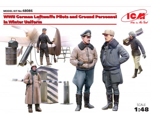 Фигуры Пилоты и техники ВВС Германии (зимний вариант) 2МВ