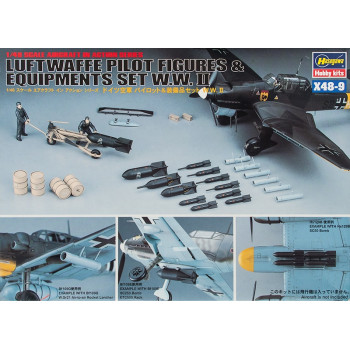 H36009 Hasegawa Миниатюры персонала, лечтчиков Люфтваффе, вооружения и оборудования (1:48)