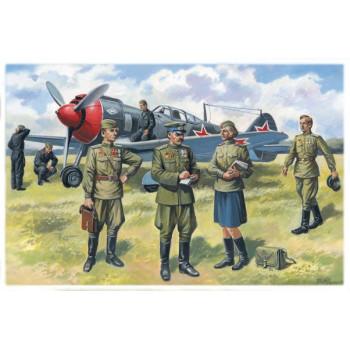 Фигуры Пилоты и техники ВВС СССР (1943-1945 г.) сборная модель