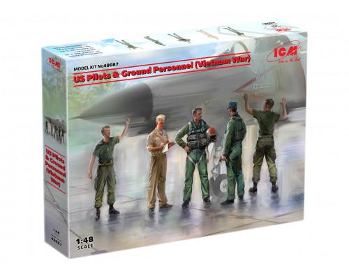 48087 ICM Фигуры, Американские пилоты и техники (война во Вьетнаме)