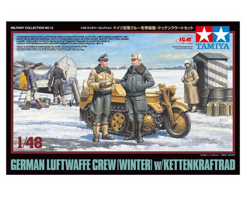 1/48 немецкие офицеры и солдаты люфтваффе в зимней форме. В наборе 5 фигур и kettenkraftrad. НОВИНКА