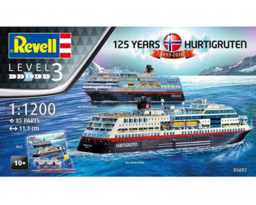 """Подарочны набор """"125 лет Hurtigruten TROLLFJORD & MIDNATSOL"""""""