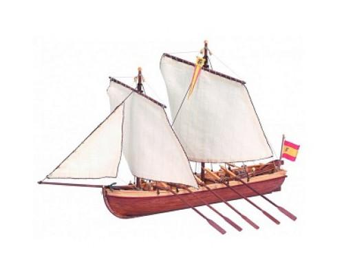 Сборная деревянная модель капитанской шлюпки корабля Artesania Latina Santisima Trinidad 1:50