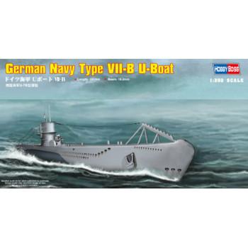83504 Немецкая ДПЛ U-boat Type VII B (1:350, Hobby Boss)