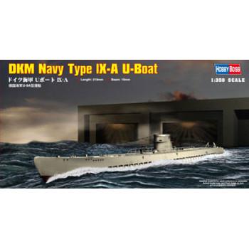 83506 Немецкая ДПЛ U-boat Type IX A (1:350, Hobby Boss)