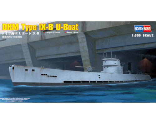 83507 Немецкая ДПЛ U-boat Type IX B (1:350, Hobby Boss)