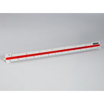 Трехгранная линейка 6 масштабов: 1:24, 1:35, 1:43, 1:48, 1:72, 1:144