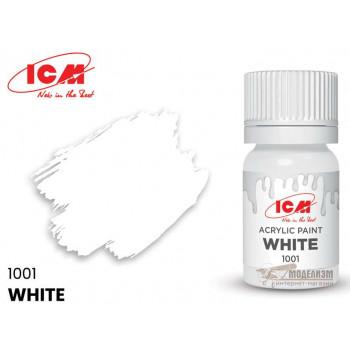 C1001 Краска для творчества, 12 мл, цвет Белый(White)
