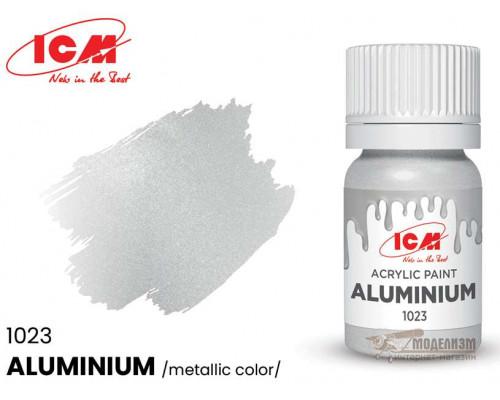 C1023 Краска для творчества, 12 мл, цвет Алюминий(Aluminium)