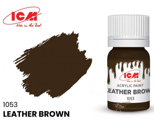 C1053 Краска для творчества, 12 мл, цвет Кожа коричневая(Leather Brown)