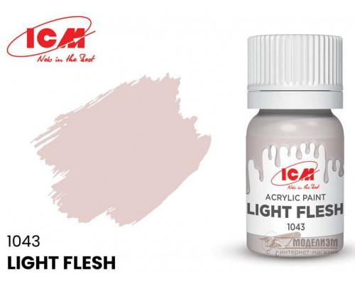 C1043 Краска для творчества, 12 мл, цвет Светло-телесный(Light Flesh)