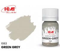 C1063 Краска для творчества, 12 мл, цвет Серо-зеленый(Green-Grey)