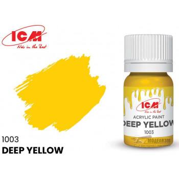 C1003 Краска для творчества, 12 мл, цвет Глубокий желтый(Deep Yellow)
