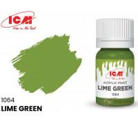 C1064 Краска для творчества, 12 мл, цвет Лаймовый(Lime Green)