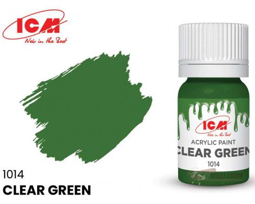 C1014 Краска для творчества, 12 мл, цвет Ясный зеленый(Clear Green)