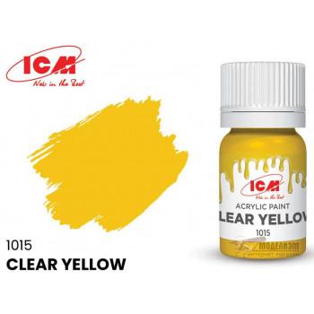 C1015 Краска для творчества, 12 мл, цвет Прозрачный желтый (Clear Yellow)