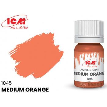 C1045 Краска для творчества, 12 мл, цвет Средний оранжевый(Medium Orange)