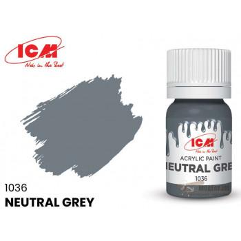 C1036 Краска для творчества, 12 мл, цвет Нейтрально-серый(Neutral Grey)