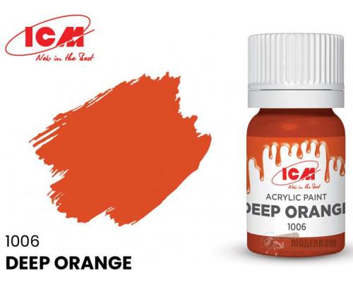 C1006 Краска для творчества, 12 мл, цвет Темно-оранжевый(Deep Orange)