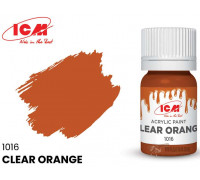 C1016 Краска для творчества, 12 мл, цвет Прозрачный оранжевый(Clear Orange)