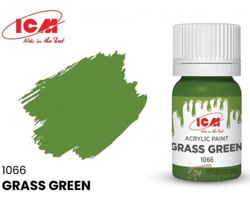 C1066 Краска для творчества, 12 мл, цвет Зеленая трава(Grass Green)