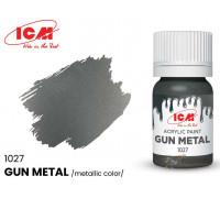 C1027 Краска для творчества, 12 мл, цвет Оружейная сталь(Gun metal)