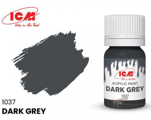 C1037 Краска для творчества, 12 мл, цвет Темно-серый(Dark Grey)