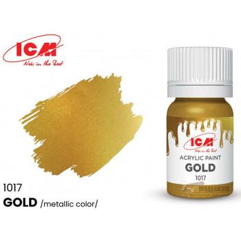 C1017 Краска для творчества, 12 мл, цвет Золото(Gold)