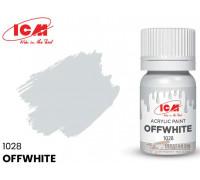 C1028 Краска для творчества, 12 мл, цвет Грязно-белый(Offwhite)