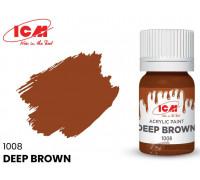 C1008 Краска для творчества, 12 мл, цвет Темно-коричневый(Deep Brown)
