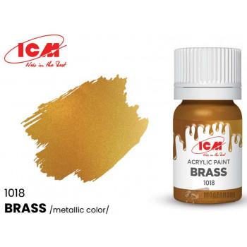C1018 Краска для творчества, 12 мл, цвет Латунь(Brass)