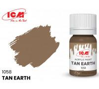 C1058 Краска для творчества, 12 мл, цвет Жёлто-коричневая глина(Tan Earth)