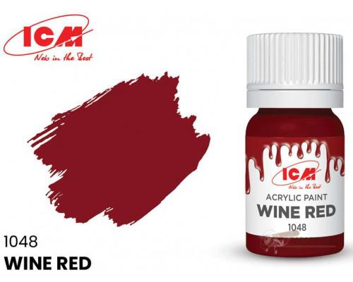 C1048 Краска для творчества, 12 мл, цвет Винно-красный(Wine Red)