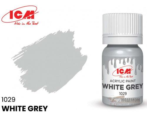 C1029 Краска для творчества, 12 мл, цвет Бело-серый(White Grey)