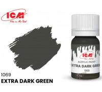 C1069 Краска для творчества, 12 мл, цвет Экстра темно-зеленый(Extra Dark Green)