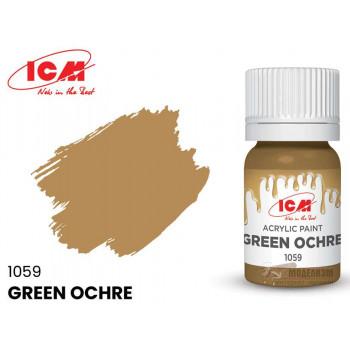 C1059 Краска для творчества, 12 мл, цвет Охра зеленая(Green Ochre)