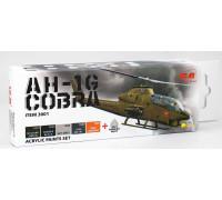 C3001 Набор акриловых красок для Cobra AH-1G (5 красок + матовый лак, по 12 мл)