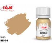 C1040 Краска для творчества, 12 мл, цвет Бежевый(Beige )