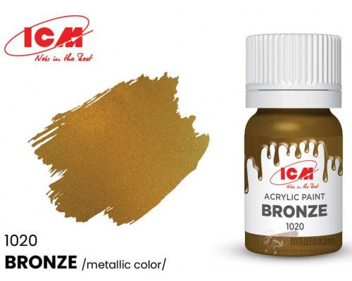C1020 Краска для творчества, 12 мл, цвет Бронза(Bronze)