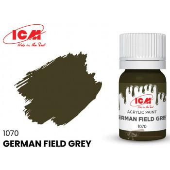 C1070 Краска для творчества, 12 мл, цвет Немецкий серо-зеленый(German Field Grey)