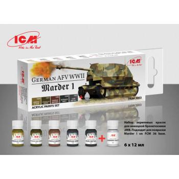 C3003 Набор акриловых красок для Marder I on FCM 36 base и другой немецкой бронетехники 2МВ