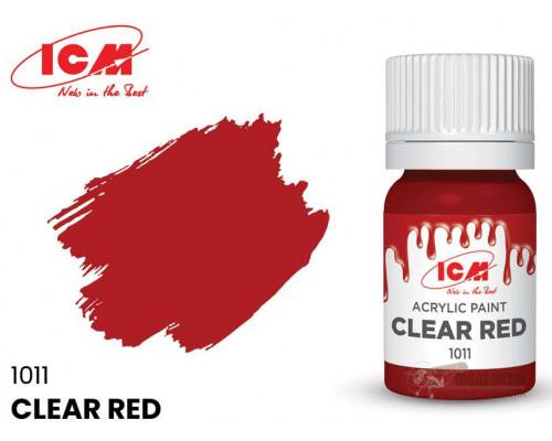 C1011 Краска для творчества, 12 мл, цвет Ясный красный(Clear Red)