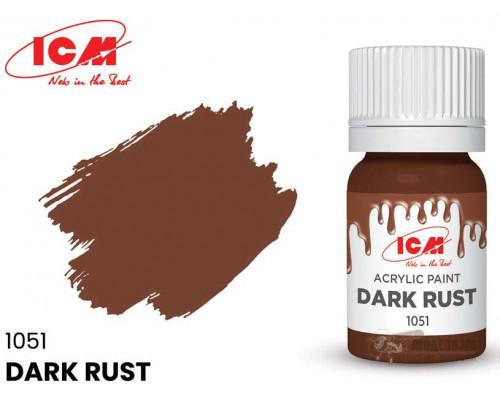 C1051 Краска для творчества, 12 мл, цвет Темная ржавчина(Dark Rust)