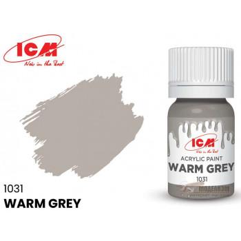 C1031 Краска для творчества, 12 мл, цвет Теплый серый(Warm Grey)
