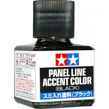 Краска для финальной отделки моделей (смывка, черная 40мл). Уже разведенная с эмал. растворителем. Черная краска для стандартных панелей.